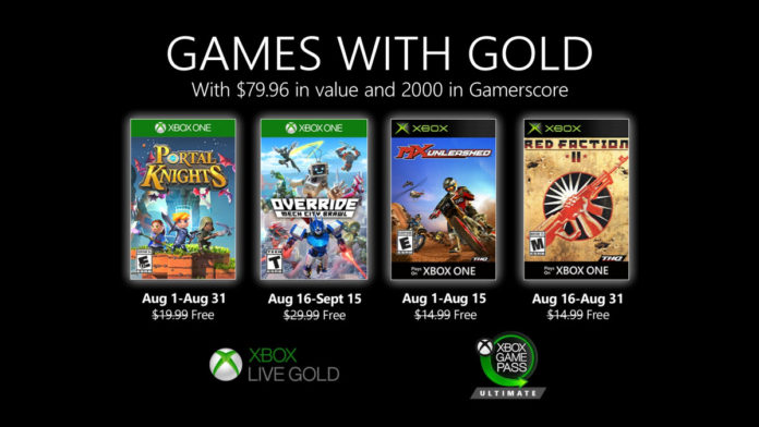 Games With Gold para agosto del 2020