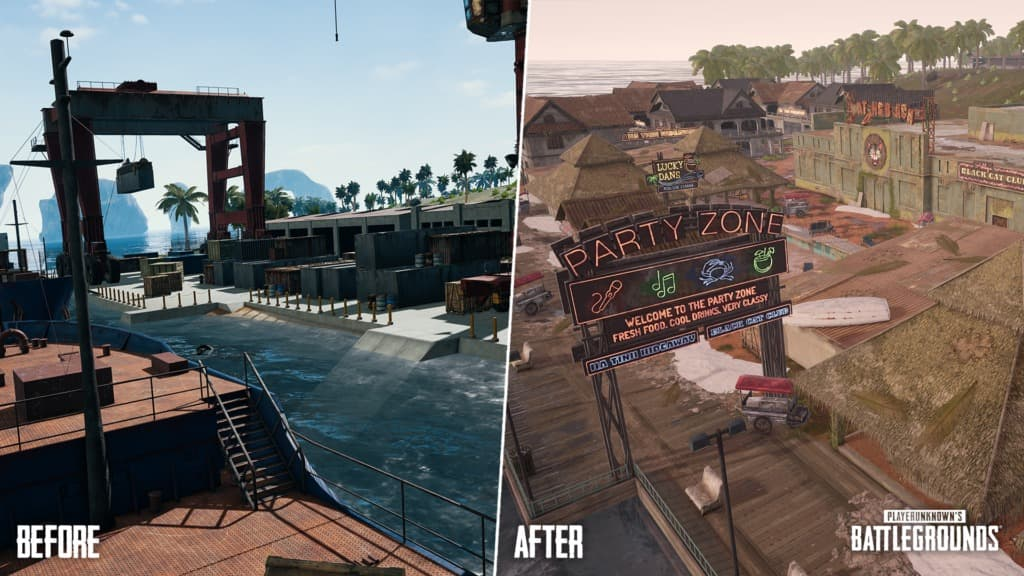 Before and After de PUBG