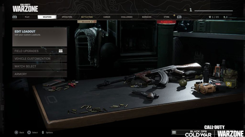 Gunsmith Call of Duty Black Ops Cold War Warzone Black Ops