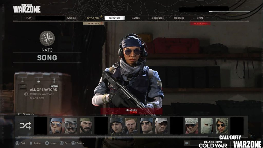 Operadores Call of Duty Black Ops Cold War Warzone Black Ops